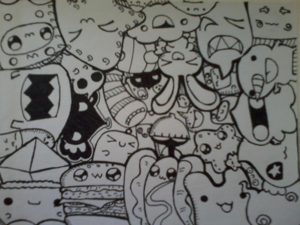 Cute Doodle Monsters Sketch Cute Monster Doodle