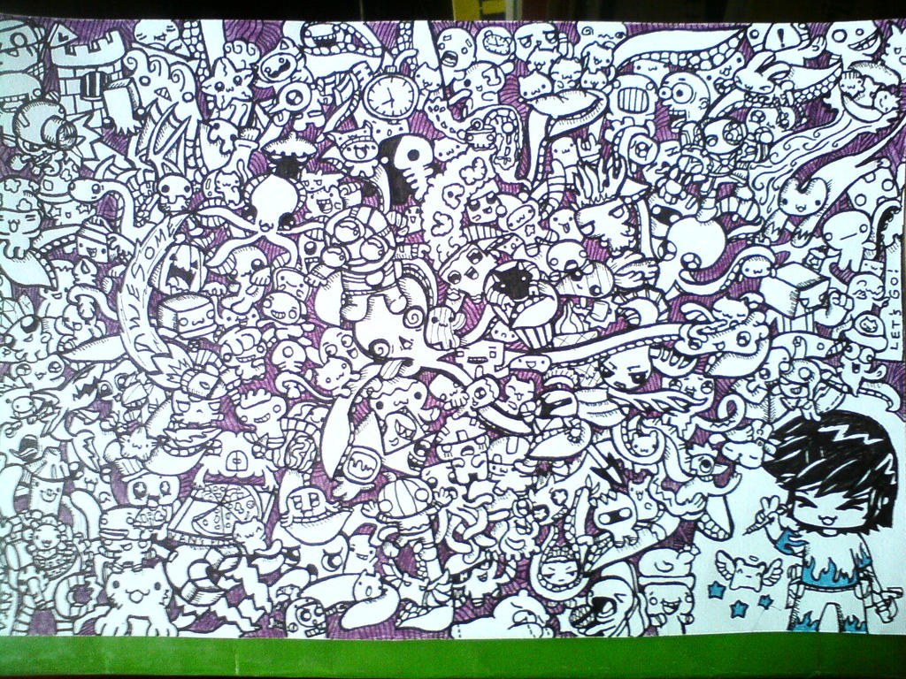 Dizzy octopus and doodle monsters d by shadowvan on for Doodle art monster