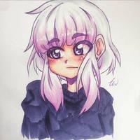 Anime Girl    Purple Biro
