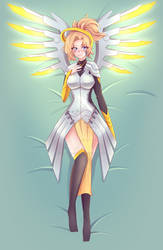 Mercy Body Pillow Print | Commission + Speedpaint