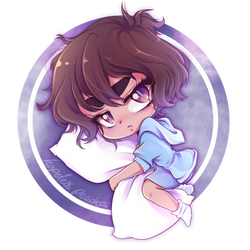 PantslessPajamas Fanart   Sleepy Chibi by HopelessPeaches
