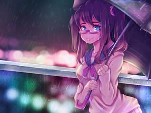 Anime Girl in the Rain   Manga on Procreate