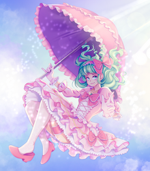 Up In The Clouds!   Hopeless Peaches Speedpaint