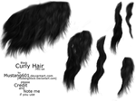 Curly Manes + tails: Black