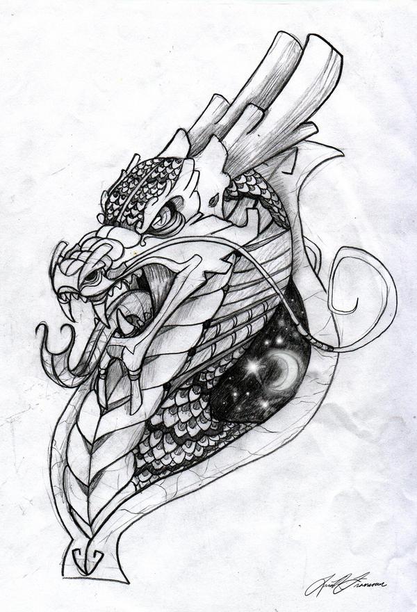 Dragon Tattoo by TraumaLlama