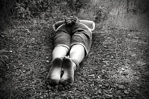 Kidnapped found tied up in forest barefoot