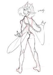 Granddaughter of Death - Sketch by Numa430