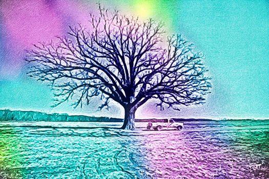 Pastel Landscape by abjonsdottir