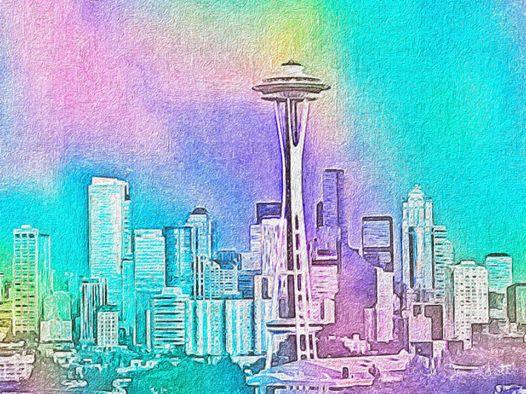 Pastel Seattle Illustrator and Oil Pastels FX by abjonsdottir