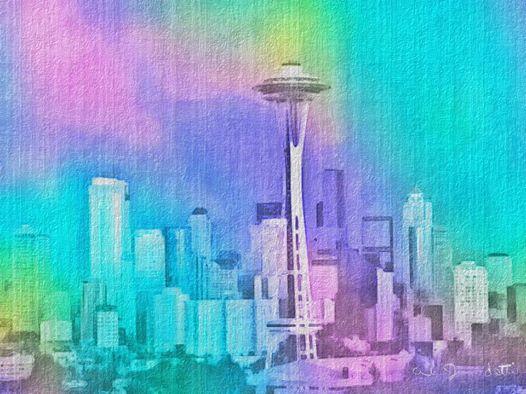 Pastel Seattle Acrylic & Stone FX by abjonsdottir