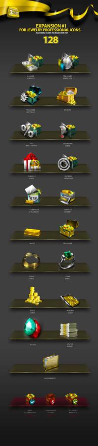 Jewelry Professional Icon Set