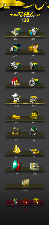 Jewelry Professional Icon Set by antialiasfactory