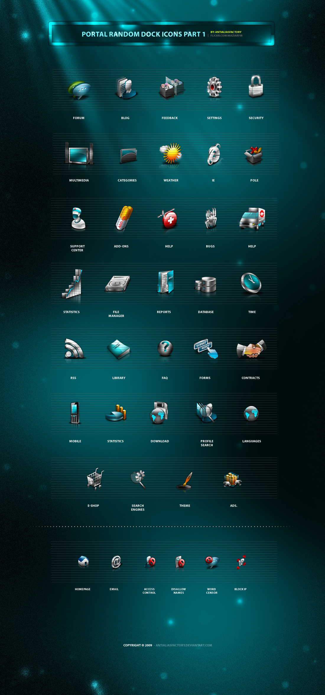 Portal Random Dock Icons part1 by antialiasfactory