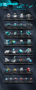 Unique CMS Icons Set