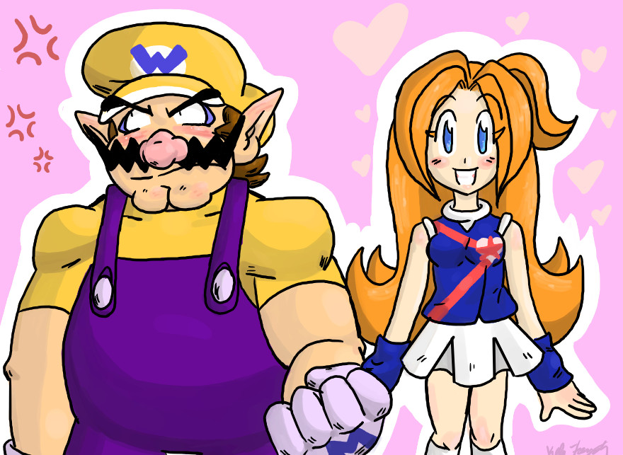A New Wario and Mona by LoveandCake
