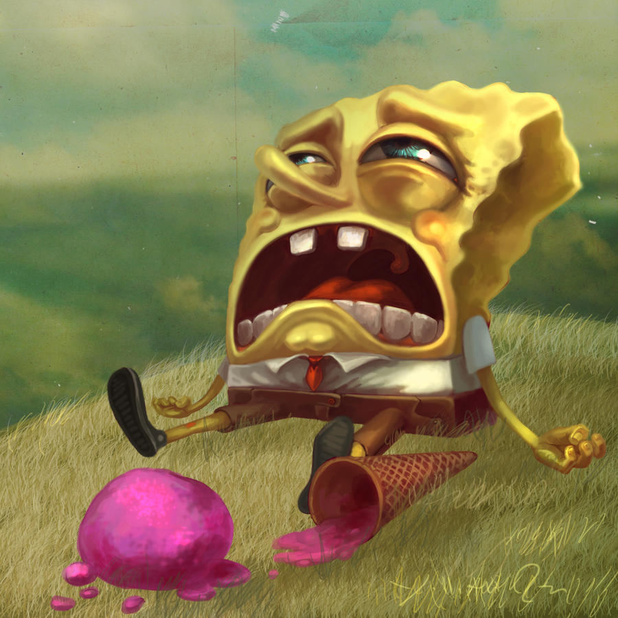 sponge bob cry