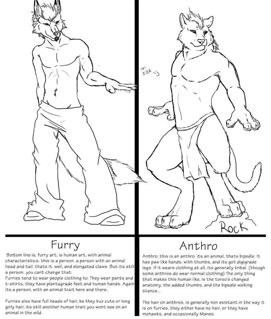 Furry/zoanthrope VS Anthro by DragonXborne