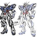 Blue T-shirt Gundam by wingsyo