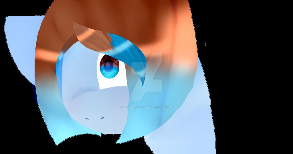 Aqua Mina Pony Oc No line art test by CeceTheAnimator