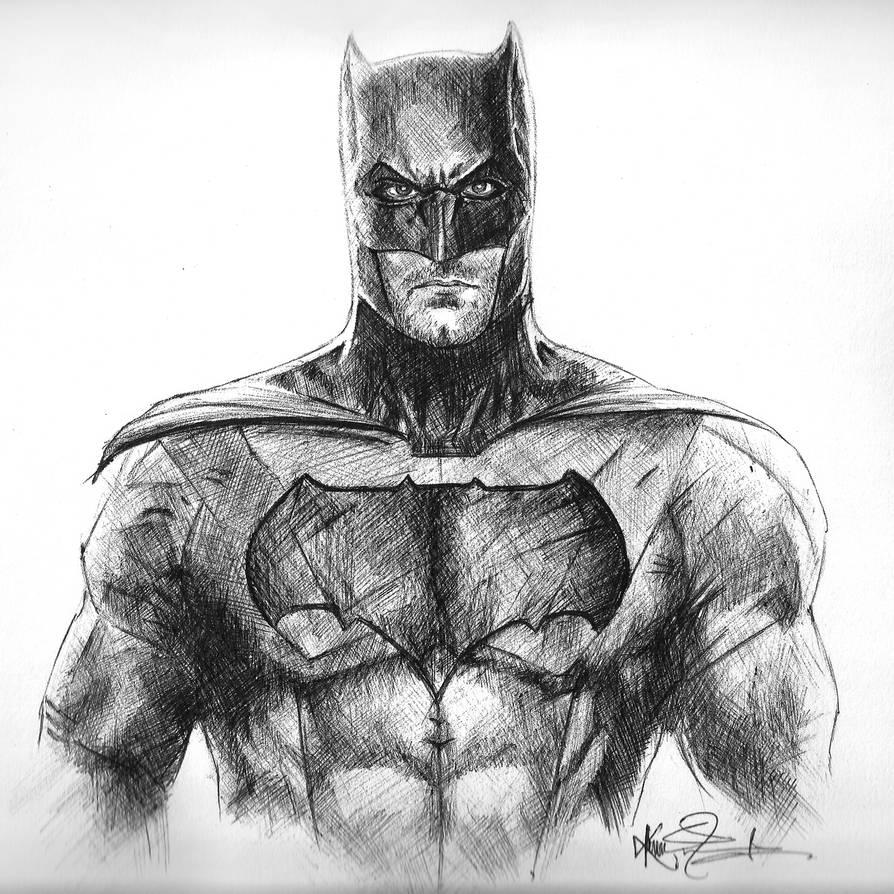 Batman Ben Affleck Ball Pen Drawing By Kira2022 On DeviantArt