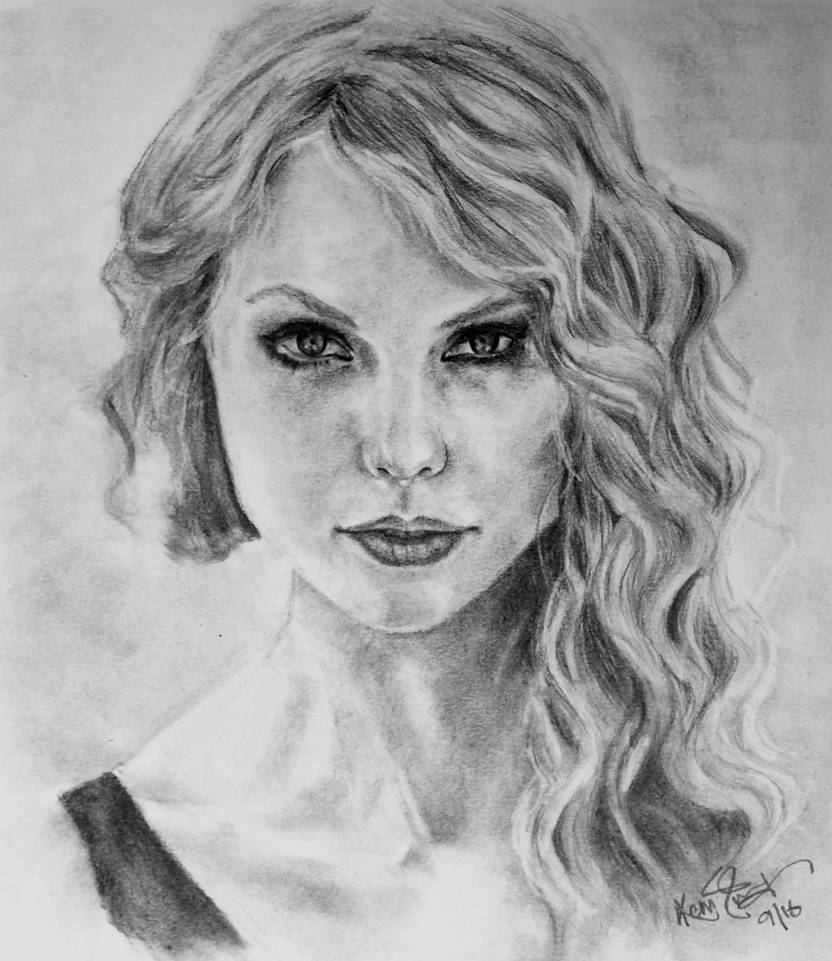 Taylor swift pencil drawing by kira2022 on deviantart
