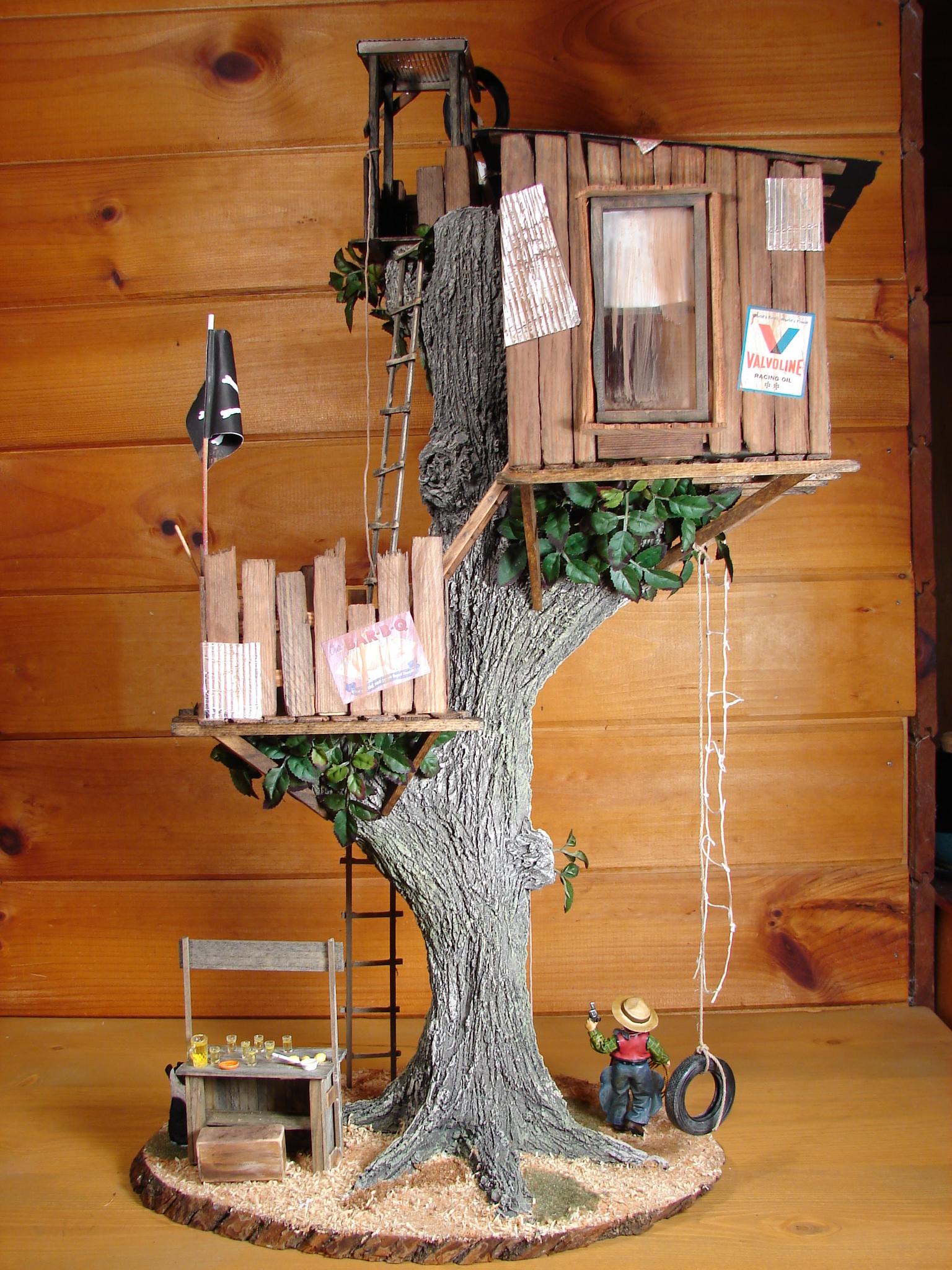 Miniature Tree House 1:12 scale handcrafted tree houseann maselli