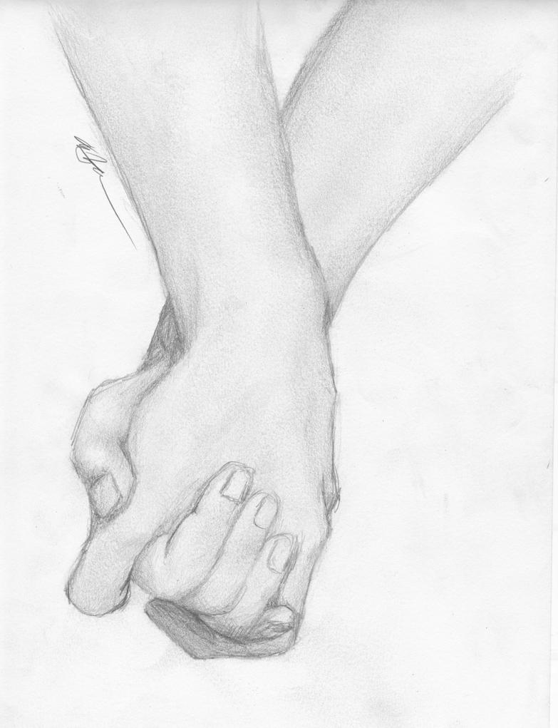 Holding Stick Hand Drawing Holding Hands Drawing
