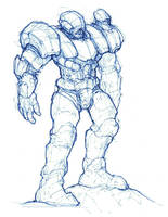 Mecha Marine Sketch June/12 by shinypants