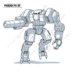 Phoenix Battlemech - Commisison by shinypants