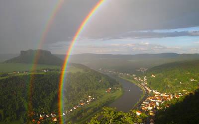 Double rainbow -((-- by RitterRunkel