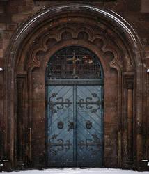 Bluish Gate by RitterRunkel