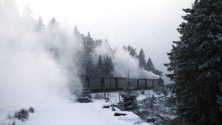 Winterdampfzug