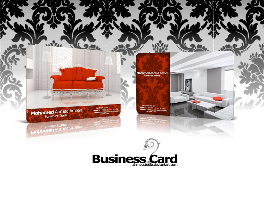 Furniture Trade Business Card By Ahmedstudio On Deviantart