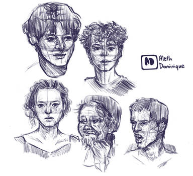 Face Practice (Loomis Method)