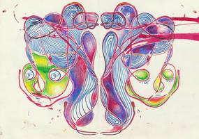 Twins by fishydraws