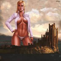 KHALEESI (Game Of Thrones Giantess) by GTSX3D