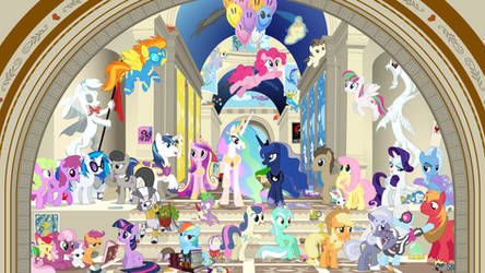 School of Canterlot - High Res V2.0 by Vectorshy