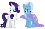 Rarity and Trixie