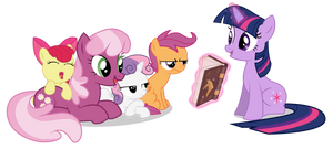 Twilight Reads to the CMC and Cheerilee