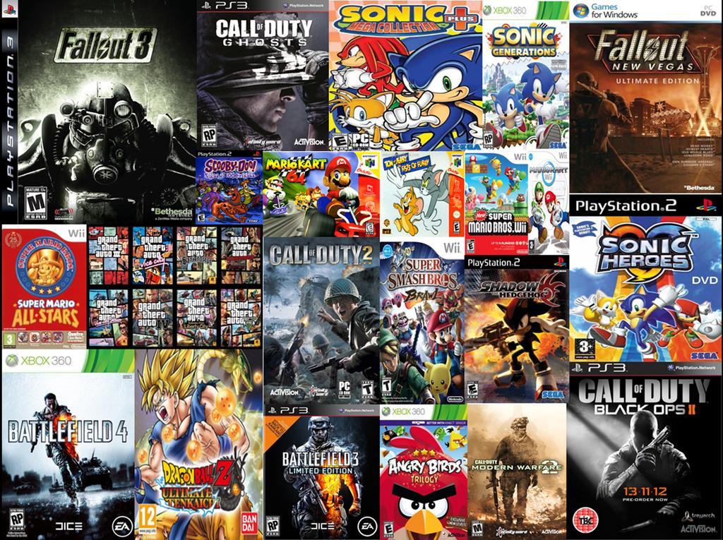 Video Game Collage by SuperSaiyanRiley on DeviantArt