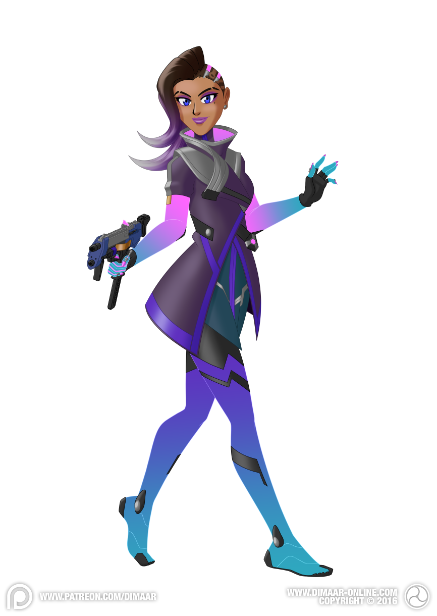 Overwatch Sombra By Dimaar On Deviantart