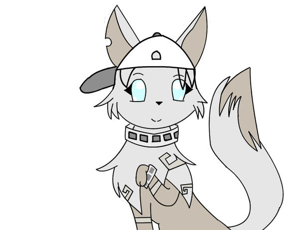 My animal jam artic wolf drawing character by thefamouspikachu