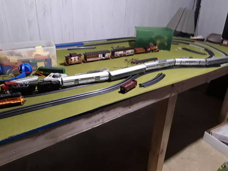 what im working on. 1 HO/OO scale trains