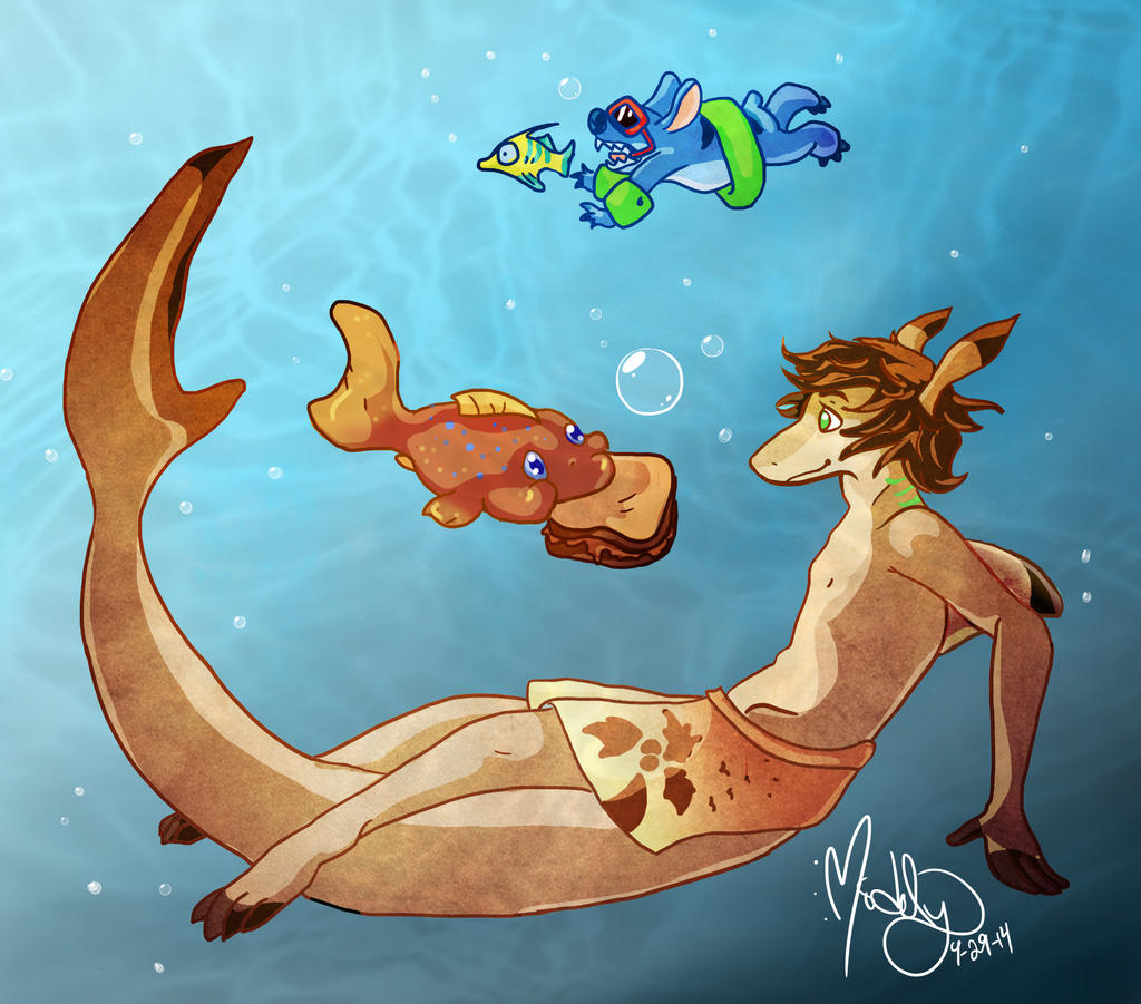 Jay and pudge the fish by shortcake middy on deviantart for Pudge the fish