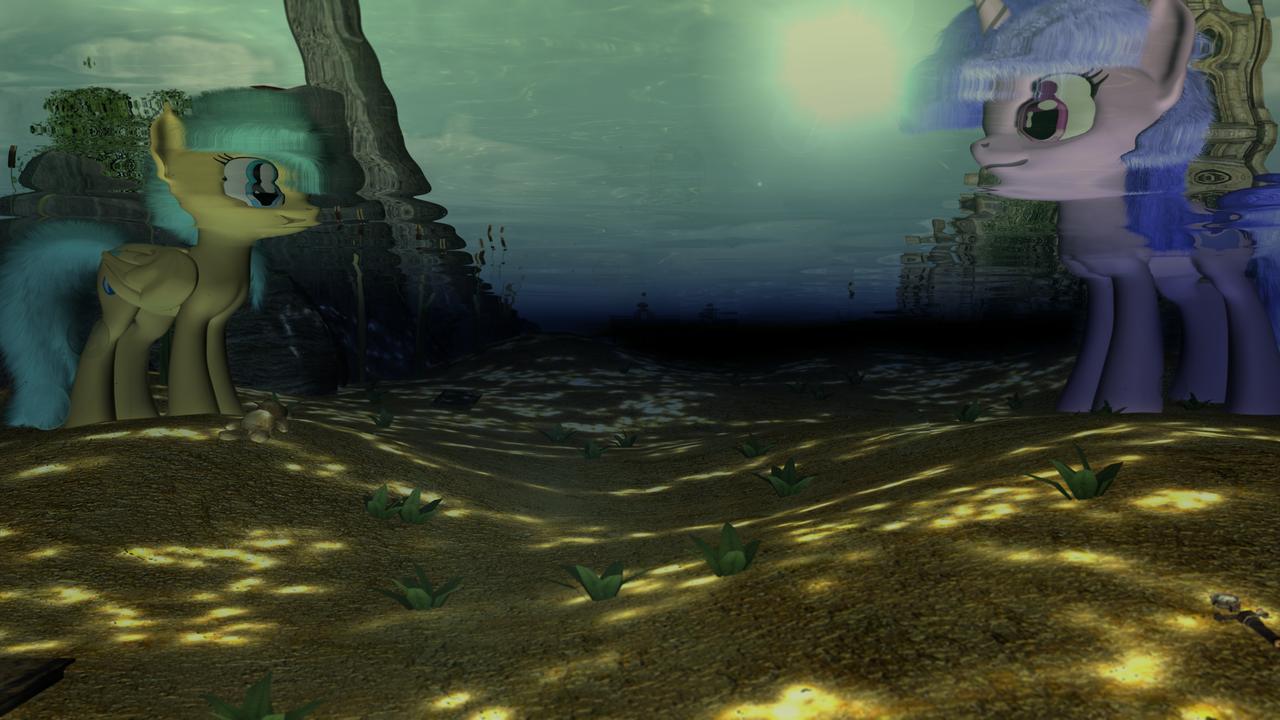 Underwater Scene by VeryOldBrony