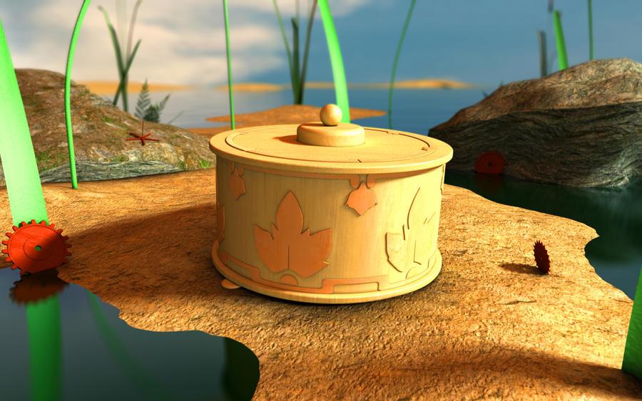 Tinkerbell Music Box On Beach by VeryOldBrony