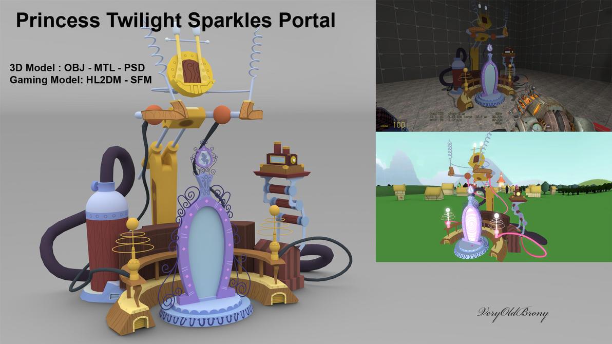 Princess Twilight Sparkles Portal by VeryOldBrony