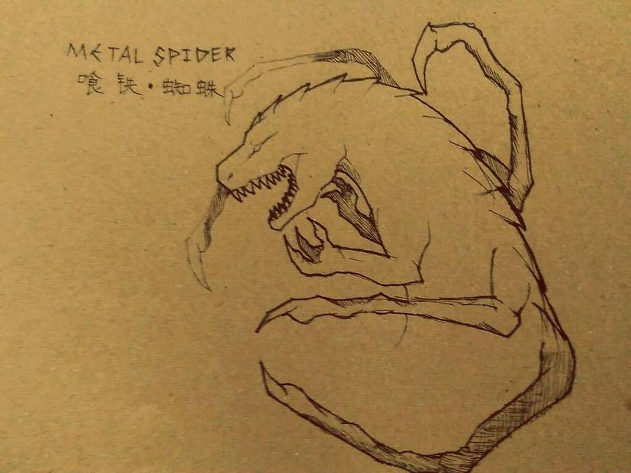 metal spider by flamedemon09