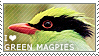 I love Green Magpies by WishmasterAlchemist
