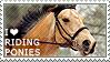 I love Riding Ponies